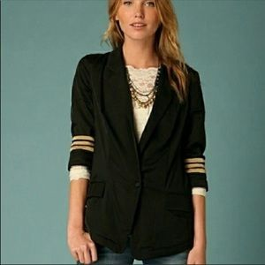 FREE PEOPLE Military Blazer in Black | Size Small